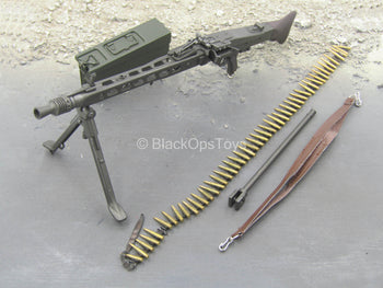 WWII German - Georg Sander - MG42 w/Metal Ammo Box & Bullet Belt