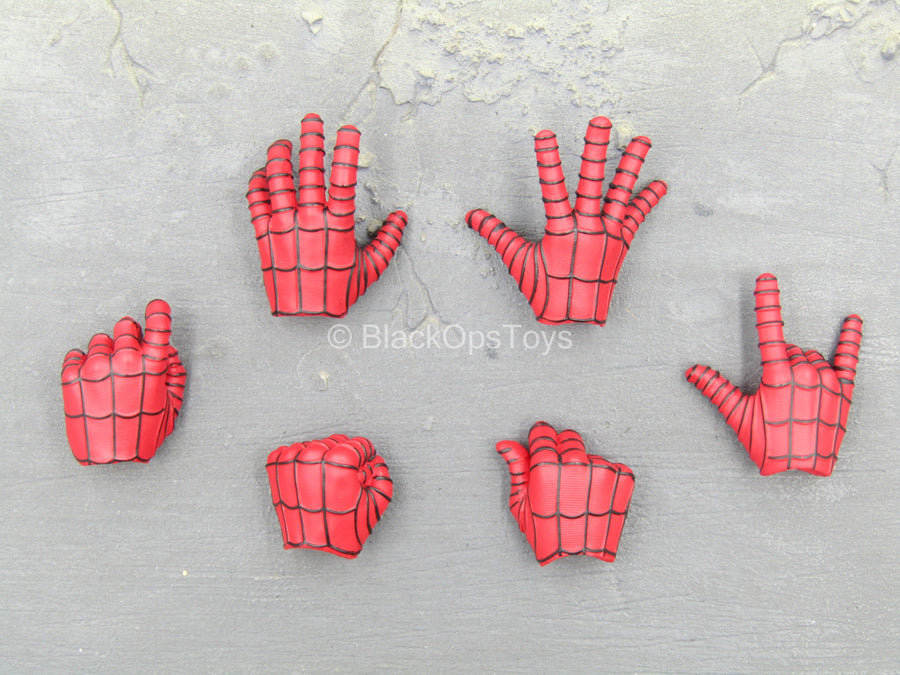 Spiderman - Red Gloved Hand Set (x6)(Type 1)