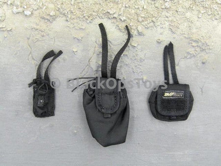 Russian Spetsnaz FSB Alfa Group 3.0 Black Dump Pouch Set