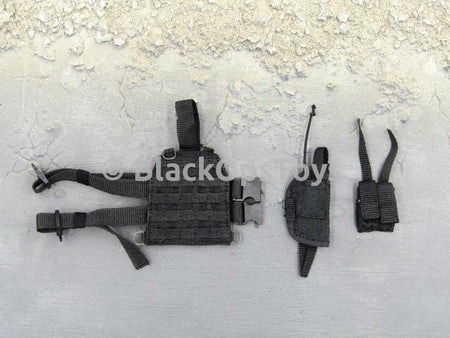 Russian Spetsnaz FSB Alfa Group 3.0 Black Drop Leg Molle Pistol Holster Set