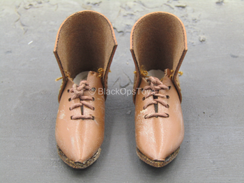 Warriors - Knight Hospitaller - Brown Leather Like Boots (Foot Type)