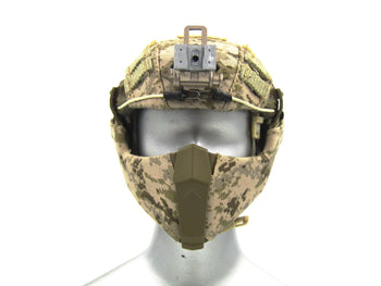 Heavy Breacher - AOR-1 Camo Helmet w/Face Shield