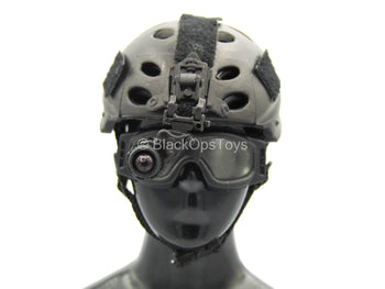 Private Military Contractor - Black Helmet w/Goggles & NVG
