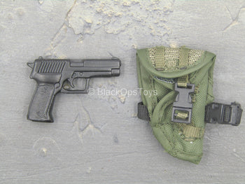 US Navy Seal - Woodland Version - Metal M9 w/Green Holster