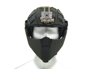 Heavy Breacher - Black Multicam Helmet w/Face Shield
