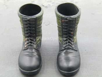 Mike Force - Black & Green Molded Boots (Foot Type)