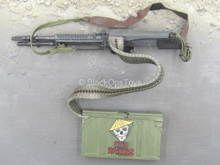 Vietnam Weapons - M60 Machine Gun w/Ammo Belt & Ammo Box