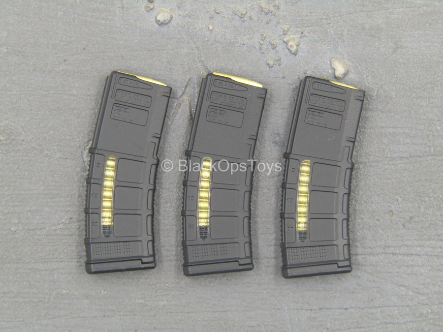 Bravo Six Urban Version - Black 5.56 Window Magazine (x3)