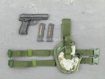 PLA Navy Marine Corps - QSZ92 Pistol w/Pixelated Drop Leg Holster