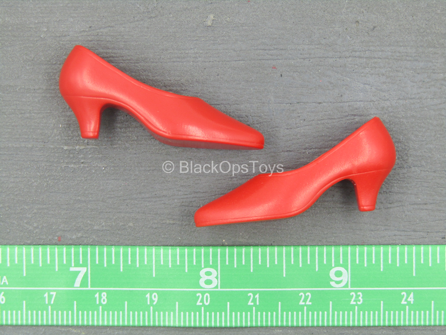 Lady's Mission - Red High Heel Shoes (Foot Type)
