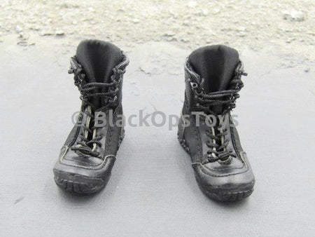 Russian Spetsnaz FSB Alfa Group 3.0 Gorka Version Black Combat Boots w/Tan Accent Foot Type