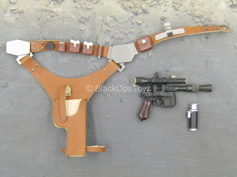 Star Wars - Han Solo - Brown Leather Like Holster w/DL-44 Pistol