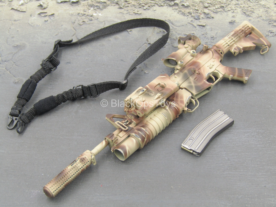 Operation Red Wings - Camo SOPMOD M4 Assault Rifle w/Attachment Set