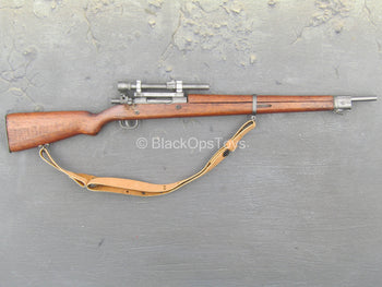 WWII - Real Wood & Metal Springfield Sniper Rifle