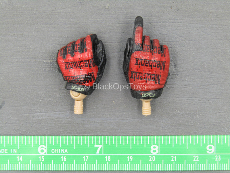 The Last - Black & Red Gloved Hand Set (x2)