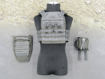 British Police Service Sniper - Grey Tactical MOLLE Vest Set