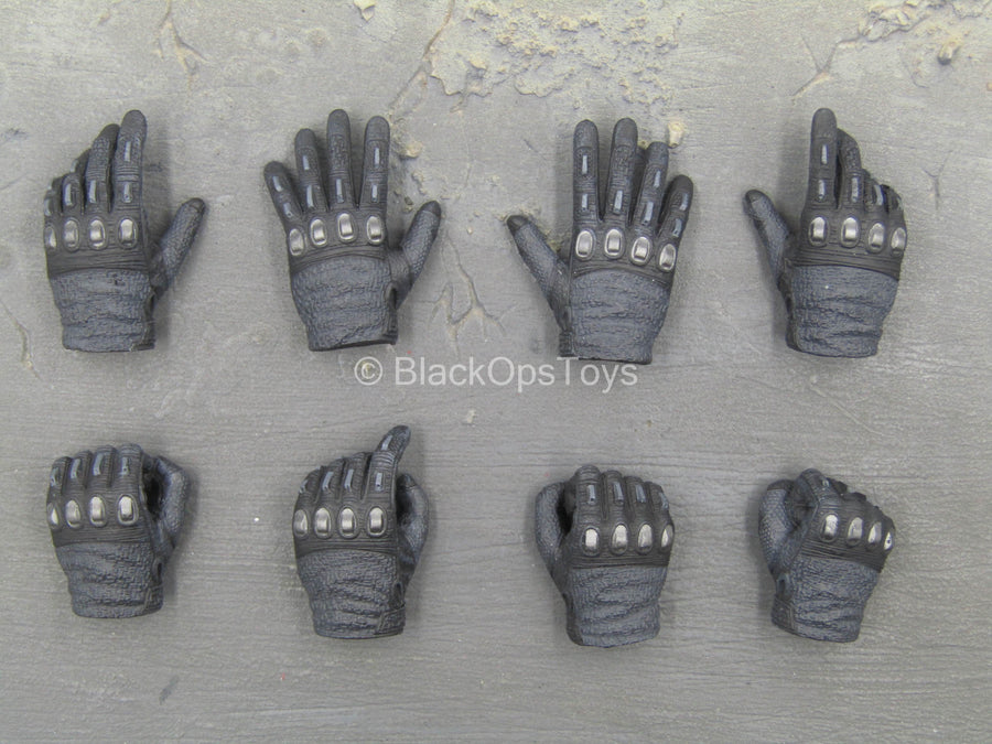GI JOE - Snake Eyes - Black Gloved Hand Set (x8)