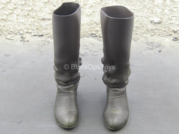 GOT - Jon Snow - Black Knee High Boots (Peg Type)