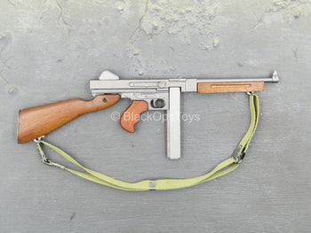 WWII Weapons - Wood & Metal M1A1 9mm Submachine Gun