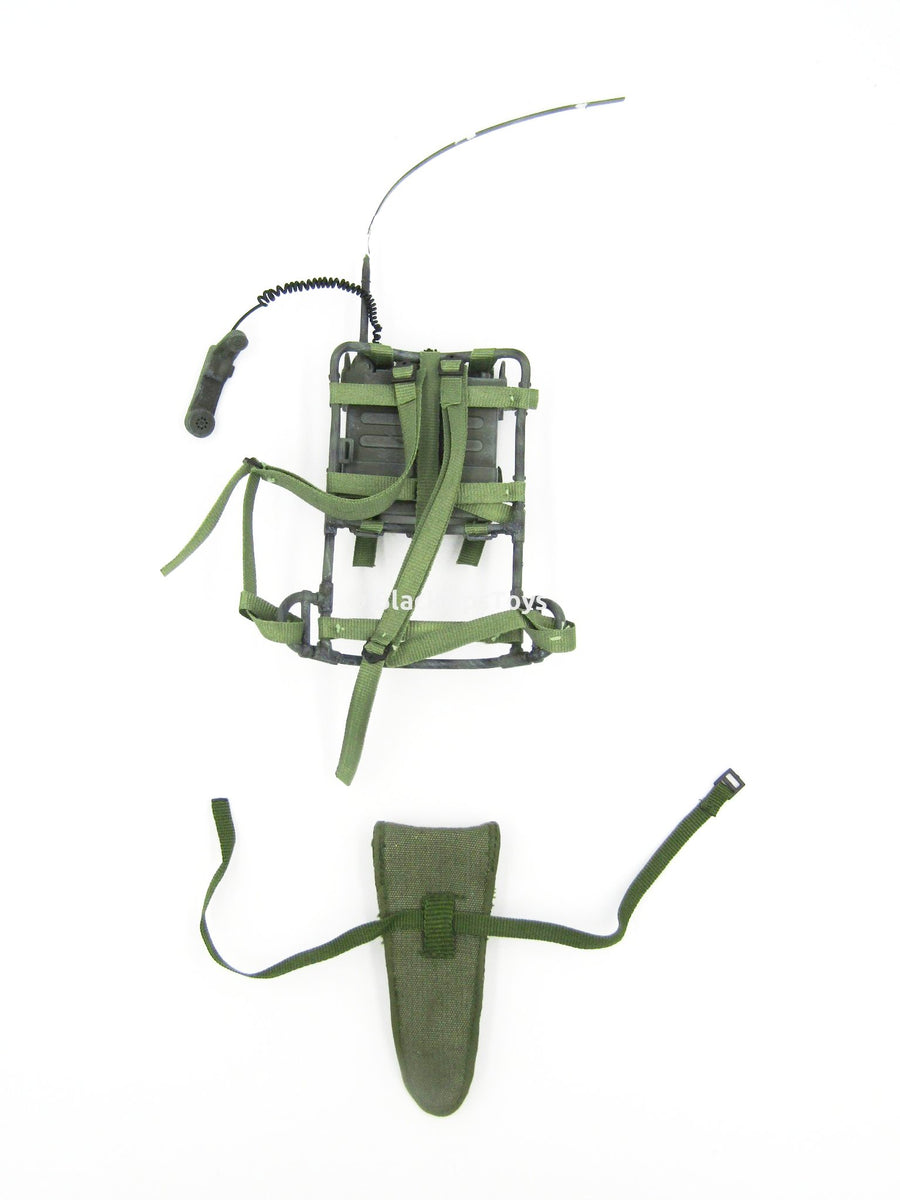 Vietnam Drang Valley OD Green Alice Pack Frame w/Radio & Drop Leg Pouch