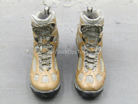 Mountain Ops Sniper - Tan Combat Boots (Peg Type)