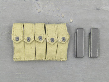 WWII - 2nd Armored Division MP - Quintuple Cell Mag Pouch w/Mags