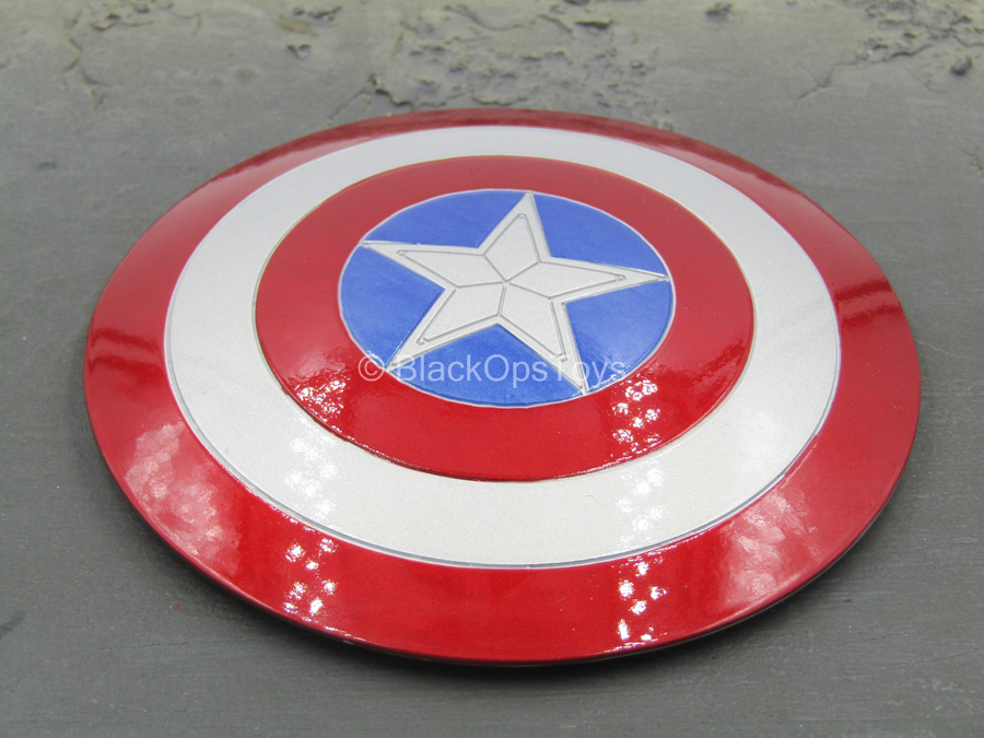 Custom - Metal Captain America Shield w/Stand - MINT IN PACKAGE