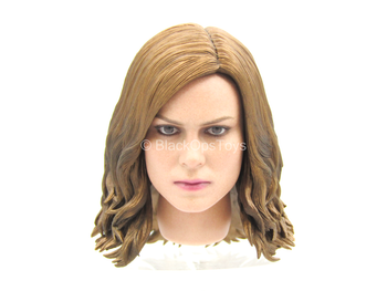 Captain Marvel - Female Head Sculpt In Brie Larson Likeness