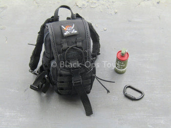 Female Shooter - Police Black Python - Backpack Set