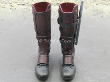Dusty Deadpool 2 - Combat Boots w/Knife & Sheath (Peg Type)