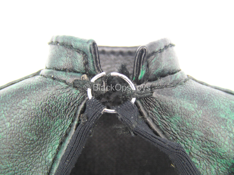 Dawn - Green Leather Like Body Suit