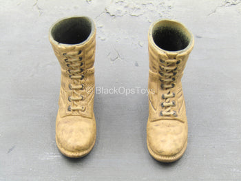 British SAS - Scud Hunter - Tan Weathered Boots (Foot Type)