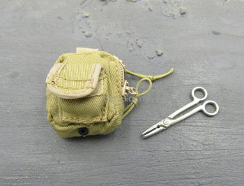 Tan Tactical Pouch w/Clamp Tool