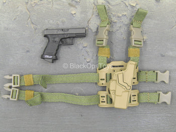 COS 1ER RPIMA - Black Pistol w/Drop Leg Holster