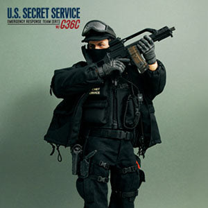 U.S. Secret Service - Green & Black Gloved Hands