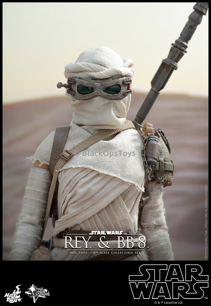 Star Wars The Force Awakens 1/6th scale Rey and BB-8 Female Green Lens Goggles