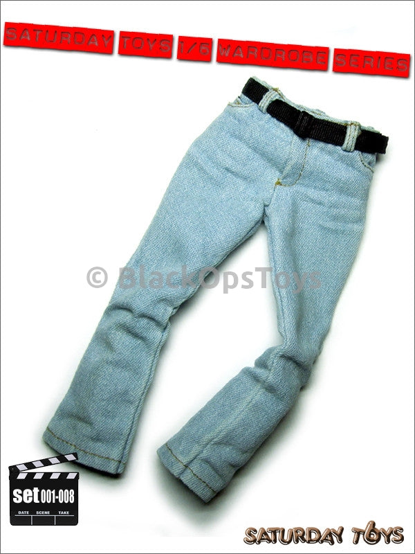 CIA/PMC Wardrobe Series Set 008 Faded Weathered Jeans with Belt