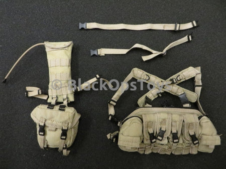 Playhouse USMC Desert Tan Frog Chest Rig W/ Pouch & CamelBak Set