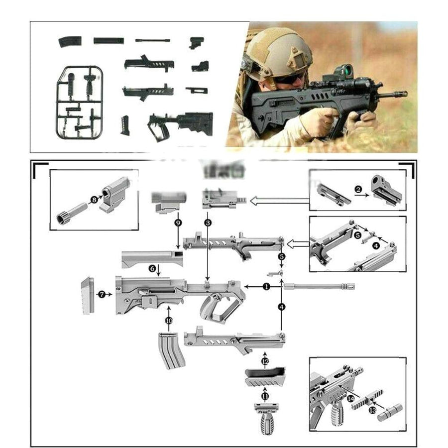 WWII - Build a Gun Set - Tavor