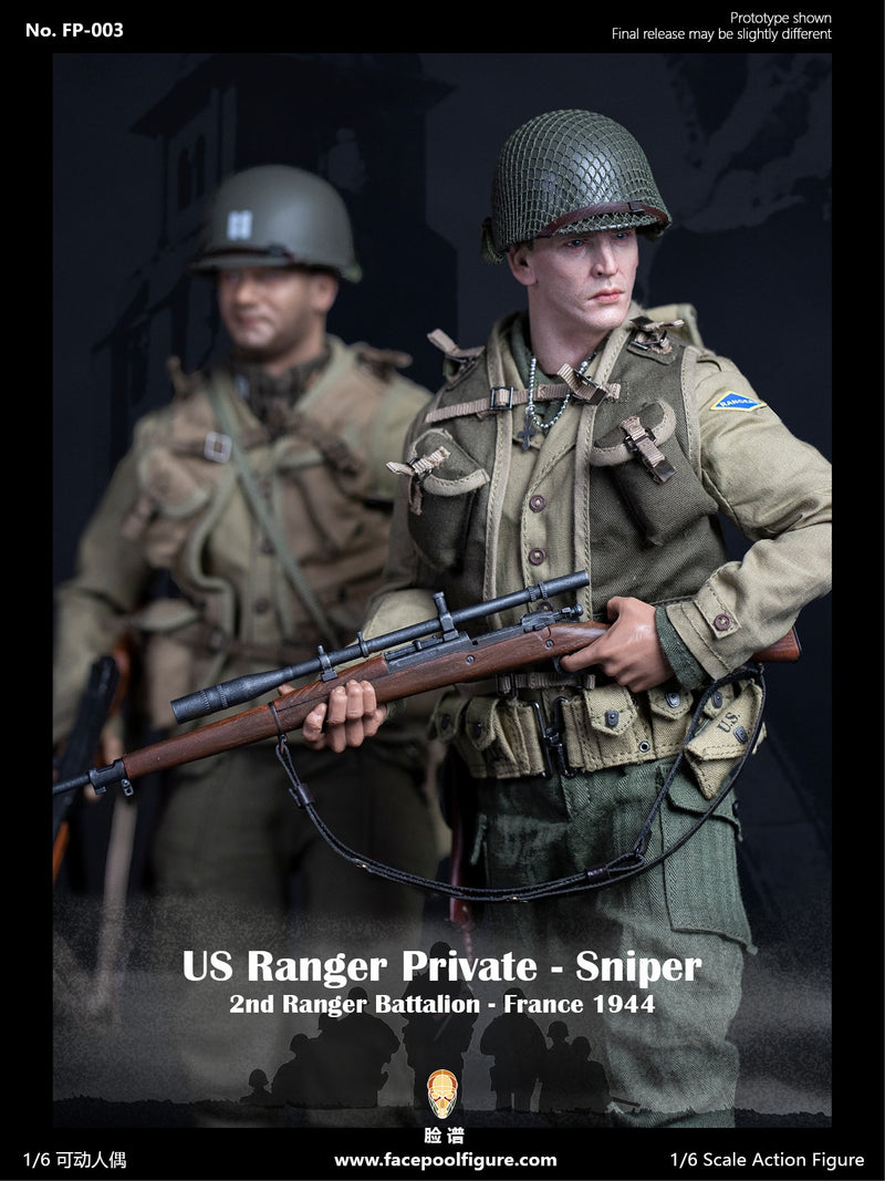 WWII - US Ranger Private Sniper - M1903-A1 Sniper Rifle w/Scope Barrel