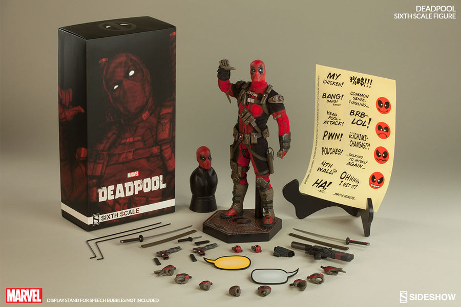 Deadpool - Red Uniform & Hand Set w/Head Sculpt