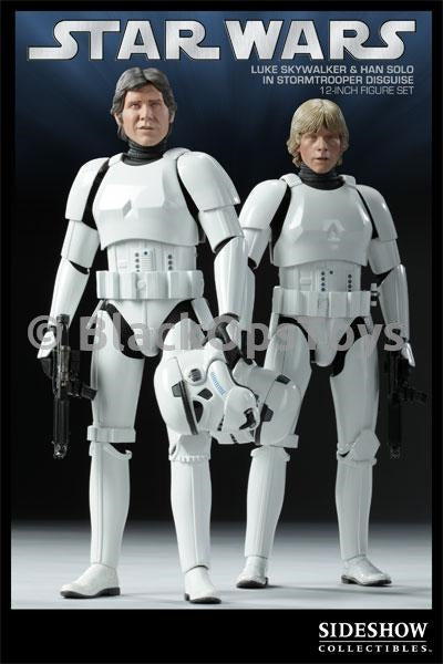 Star Wars Han Solo and Luke Skywalker in Stormtrooper Helmet w/Detailed Interior
