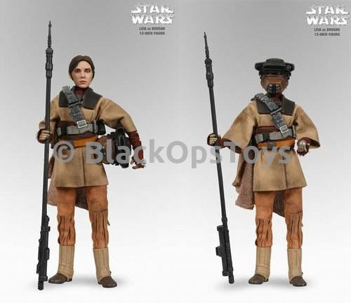 Star Wars - Leia As Boushh - Female Helmet Head Sculpt