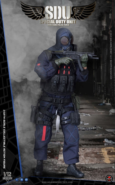 PREORDER - 1/12 scale - HK SDU Assault Team & Canine Handler Combo - MINT IN BOX