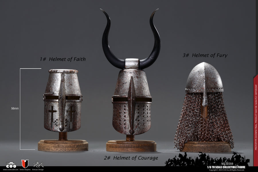 Jihad Helmets - Die-Cast Alloy Metal Helmet Of Courage