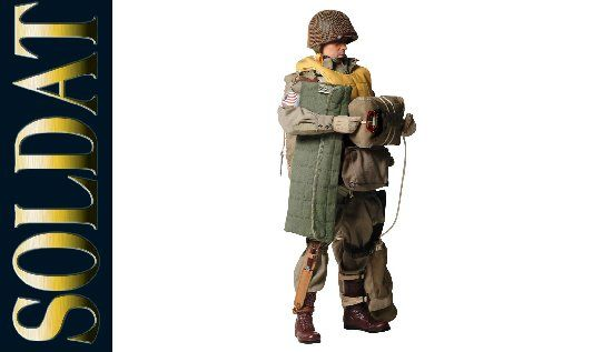 WWII - Soldat - Paratrooper - Weathered White Gloved Hand Set
