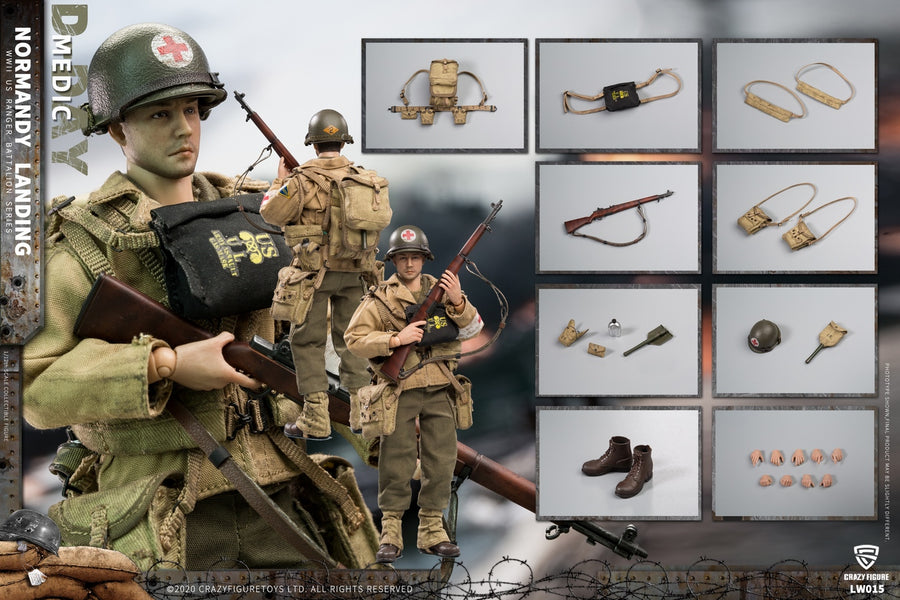 PREORDER - 1/12 - WWII U.S. Rangers on D-Day Set - MINT IN BOX