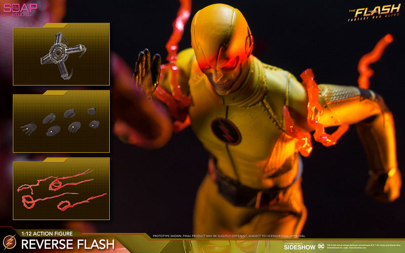 1/12 - Reverse Flash - Black Male Gloved Hand Set (x7)