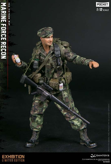 1/12 - Marine Force Recon - Male Base Body w/Head Sculpt & Hands
