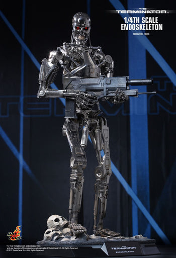 1/4 - The Terminator - Die Cast Metal Endoskeleton - MIOB (Read Desc)